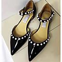 זול תכשיט לקרסול-בגדי ריקוד נשים עור נאפה Leather אביב שטוחות שטוח זהב / שחור / כסף
