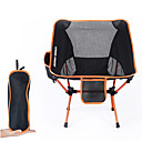 cheap Bike Frame Bags-Camping Chair with Side Pocket Multifunctional Ultra Light (UL) Foldable Folding 7075 Aluminium Mesh for 1 Camping Travel Spring, Fall, Winter, Summer Orange Red Dark Blue