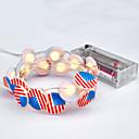 זול כלים לאפייה-3m אמריקאי דגל מחרוזת האורות עבור usa אמריקה עצמאות / מסיבה / חג / פסטיבל קישוט 30 מדרגות חם לבן דקורטיבי 5v 1 סט