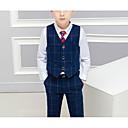זול אקזוטי Dancewear-נייבי כהה תערובת כותנה\פוליאסטר חליפה לנושא הטבעת  - 1set כולל וסט / Pants / קשר