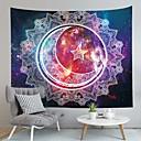 billiga Wall Tapestries-Fjäril Tema / bohemisk tema Väggdekor 100% Polyester Medelhavet / bohemliv Väggkonst, Vägg Tapestries Dekoration
