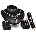 billige Smykke Sett-Dame Brude smykker sett Klassisk velsignet Stilfull Strass øredobber Smykker Gull Til Bryllup Fest 1set / Øredobber