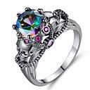 זול Fashion Ring-בגדי ריקוד נשים טבעת שוהם 1pc שחור קשת סגסוגת מתנה פֶסטִיבָל תכשיטים