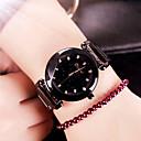 זול מוקסינים לנשים-בגדי ריקוד נשים שעון מכני קווארץ מתכת אל חלד עמיד במים אנלוגי אופנתי - שחור זהב ורד