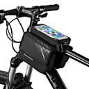 cheap Bike Handlebar Bags-ROCKBROS Cell Phone Bag Bike Frame Bag Top Tube 6 inch Touch Screen Reflective Logo Rainproof Cycling for iPhone X iPhone XR iPhone XS Black Mountain Bike MTB Bike / Cycling / iPhone XS Max