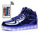 cheap Men's Sneakers-Men's Remote Control LED Shoes Rubber / Synthetics Spring & Summer / Fall & Winter Casual Sneakers Walking Shoes Mid-Calf Boots Silver / Blue / Pink / Party & Evening