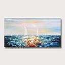 povoljno Slike krajolika-Hang oslikana uljanim bojama Ručno oslikana - Sažetak Pejzaž Moderna Bez unutrašnje Frame