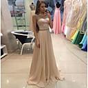 זול שמלות שושבינה-גזרת A עם תכשיטים שובל סוויפ \ בראש שיפון ערב רישמי שמלה עם פרטים מקריסטל על ידי LAN TING Express