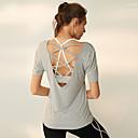 זול ביגוד כושר, ריצה ויוגה-בגדי ריקוד נשים יוגה למעלה צבע אחיד צורני ריצה כושר וספורט צמרות לבוש אקטיבי נושם ייבוש מהיר תומך זיעה קשיח