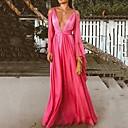 זול שמלות שושבינה-גזרת A צלילה עד הריצפה שיפון גב פתוח ערב רישמי שמלה עם על ידי LAN TING Express