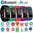זול חכמים wristbands-id115 פלוס גשש כושר צמיד חכם bluetooth תמיכה להודיע / צג קצב לב עמיד למים ספורט smartwatch smartwatch samsung / iphone / אנדרואיד טלפונים