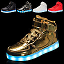 cheap Men's Sneakers-Men's Light Up Shoes Faux Leather Spring / Fall Sneakers Non-slipping Black / Silver / Red