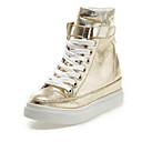זול מגפי נשים-בגדי ריקוד נשים נעלי ספורט עקב סמוי סינטטיים קיץ & אביב זהב / כסף