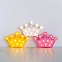 זול אוהד-1pc Crown Shape מנורת עיטור / LED לילה אור לבן חם סוללות AA לילדים / סרט מצויר / יום הולדת סוללה