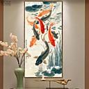 halpa Kehystetty taide-Kehystetty taidepainate Kehystetty öljymaalaus - Eläimet Puu Öljymaalaus Wall Art