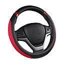 cheap Steering Wheel Covers-Steering Wheel Covers leatherette / Rubber / Textile 38cm Black / Blue / Black / Cream / Black / Red For universal General Motors All years