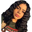 זול פיאות תחרה משיער אנושי-שיער אנושי חזית תחרה פאה חלק אמצעי בסגנון שיער ברזיאלי עמוק שחור פאה 130% צפיפות שיער נשים בגדי ריקוד נשים קצר אחרים Clytie