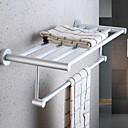 זול מדפי מקלחת-מתלה מגבת יצירתי / רב שימושי עכשווי אלומיניום 1pc מותקן על הקיר