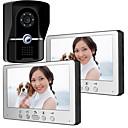 olcso Videó kaputelefonok-815fg12 ultra-vékony 7 hüvelykes vezetékes videó ajtócsengő hd villa egy két videofelvevő kültéri egység éjszakai látás eső feloldásához