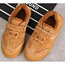זול נעלי ספורט לילדים-בנות נוחות עור חזיר נעלי ספורט צהוב חורף