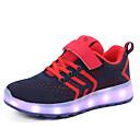 זול LED Shoes-בנים / בנות נעליים זוהרות דמוי עור / Flyknit נעלי ספורט ילדים קטנים (4-7) / ילדים גדולים (7 שנים +) הליכה LED אדום / כחול / ורוד אביב / קיץ / גומי