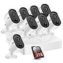 Недорогие Умные браслеты-zosi 8-канальный 5-мегапиксельный HD 2560x1920 система камер видеонаблюдения 8 шт. пуля камеры видеонаблюдения 2 ТБ HDD пир детектор движения монитор водонепроницаемый рекордер DVR Kit H.265