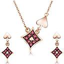levne Náramky-Dámské Šperky Set stylové, Elegantní Zahrnout Peckové náušnice Náhrdelník Světle hnědá Pro Denní
