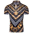 お買い得  メンズスリッポン&ローファー-男性用 EU / USサイズ Polo シャツカラー 幾何学模様 レインボー / 半袖