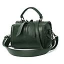 cheap Smartwatches-Women's Zipper Top Handle Bag Waterproof PU(Polyurethane) Solid Color Dark Green / Camel / Wine