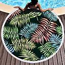 זול מגבת חוף-איכות מעולה מגבת חוף, פרחוני  בוטני פולי / כותנה 1 pcs