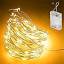 halpa LED-hehkulamput-5m Koristevalot 50 LEDit SMD 0603 Lämmin valkoinen / Valkoinen / Monivärinen Vedenkestävä / Party / Koristeltu Akut viritettyinä 1kpl