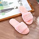 povoljno Papuče-papuče imitirane zečje kose / ženske papuče kućne papuče / papuče kupaca slobodno vrijeme / imitirane biserne bočne papuče / super meke udobne papuče