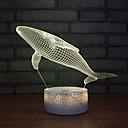 זול אורות 3D הלילה-לוויתן 3D לילה אור חדש פנטזיה הוביל דקורטיבי סטריאו 3d USB ילדים צעצועים ילדים הוביל המנורה מנורה שולחן מנורות