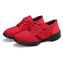 זול נעלי ספורט לנשים-בגדי ריקוד נשים נעלי ריקוד רשת סניקרס לריקוד שחבור נעלי ספורט שטוח מותאם אישית אדום / הצגה / אימון