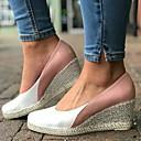 hesapli Kadın Topukluları-Kadın's Sandaletler Dolgu Topuk PU Yaz Pembe / Zıt Renkli