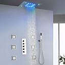 povoljno Slavine za umivaonik-Slavina za tuš - Suvremena Chrome / Slikano završi Zidne slavine Keramičke ventila Bath Shower Mixer Taps