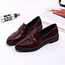 hesapli Kadın Düz Ayakkabıları ve Makosenleri-Kadın's Mokasen & Bağcıksız Ayakkabılar Kalın Topuk PU Bahar Siyah / Şarap