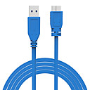 זול USB-LITBest USB 3.0 Micro-B ל SATA III זכר-זכר 1.5M (5ft) סיליקון