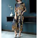 זול חליפות שני חלקים לנשים-מכנס דפוס, פרחוני / גיאומטרי / קשת - סט ארוך בוהו / מתוחכם בגדי ריקוד נשים