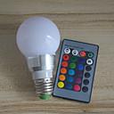 זול פמוטי קיר לחוץ-1pc 6 W נורות גלוב לד 600 lm E26 / E27 A60(A19) 6 LED חרוזים לד משתלב Spottivalo עובד עם שלט רחוק רב צבעים 220 V