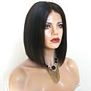 זול פיאות סינטטיות ללא כיסוי-פאות סינתטיות Kinky Straight סגנון תספורת בוב ללא מכסה פאה שחור שיער סינטטי 38~42 אִינְטשׁ בגדי ריקוד נשים הגעה חדשה שחור פאה אורך בינוני / Yes