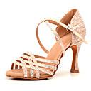 זול נעליים לטיניות-בגדי ריקוד נשים נעלי ריקוד סטן נעליים לטיניות ריינסטון עקבים עקב רחב מותאם אישית עירום / הצגה
