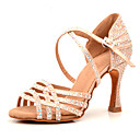 povoljno Cipele za latino plesove-Žene Plesne cipele Saten Cipele za latino plesove Štras Štikle Deblja visoka potpetica Moguće personalizirati Nude / Seksi blagdanski kostimi