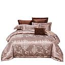 halpa Kiinteä pussilakanoiksi-kultainen 250t ylellinen luksushotelli jaquard puhdas puuvilla santin silkki neliosainen vuodevaatteet asetettu