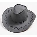 halpa Elokuva & TV teeman puvut-Westworld West Cowboy Cowboy-puvut Aikuisten Miesten Hat Vapaa-aika Joulu Halloween Karnevaali Festivaali / loma Nahka Keltainen / Kahvi / Ruskea Karnevaalipuvut Yhtenäinen