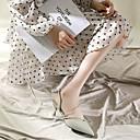 abordables Chaussures de Mariage pour Femme-Femme Chaussures à Talons Kitten Heel Bout pointu Cuir Nappa Rétro Vintage Marche Eté Vert / Rose