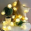 billige Flaskegaver-10 led rose jul dekorasjon snor lys simulering led lys post lantern belysning fe lysene hjem blomsterfest