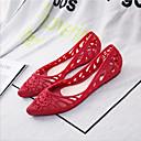 hesapli Kadın Babetleri-Kadın's Düz Ayakkabılar Düz Taban PVC Yaz Mor / Kırmzı / Mavi