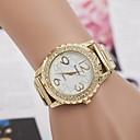 hesapli Saatler-Kadın's Elbise Saat Quartz Paslanmaz Çelik imitasyon Pırlanta Analog Klasik - Altın Gümüş Pembe