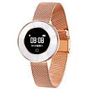 זול חיישנים-צמיד x6 חכם צמיד ip68 עמיד במים רצועת פלדה קצב הלב ניטור לחץ דם חכם נשים שעונים smartwatch